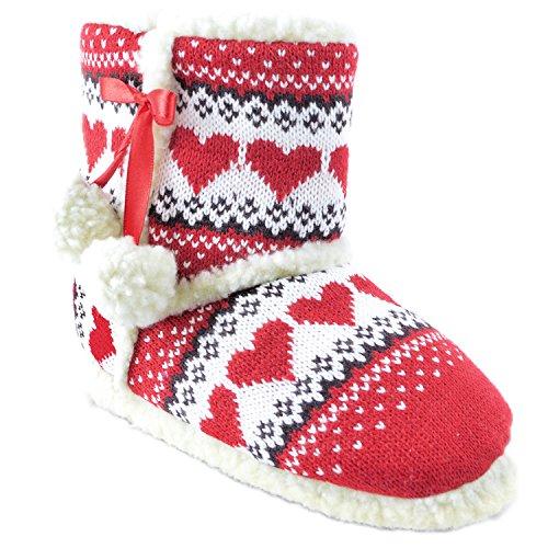 Footwear Heart Print Slipper