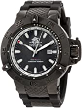Invicta Subaqua Men's Quartz Watch with Black Dial  Analogue display on Black Plastic Strap 0736