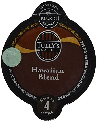 32 Count -Tully's Hawaiian Coffee Vue Cup For Keurig Vue Brewers (Keurig Hawaiian compare prices)