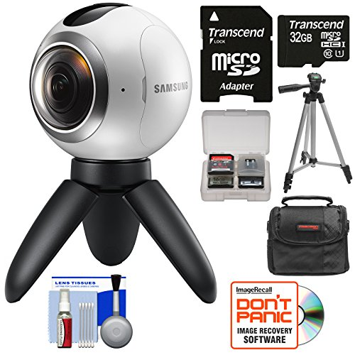 Samsung Gear 360 Spherical VR HD Video Camera Camcorder with 32GB Card + Case + Tripod + Kit