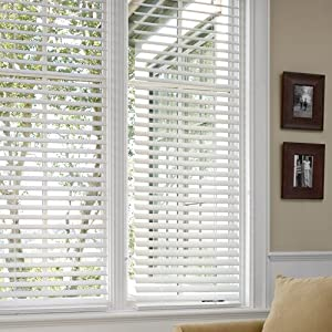 2 Inch White Faux Wood Finished Pvc Blinds