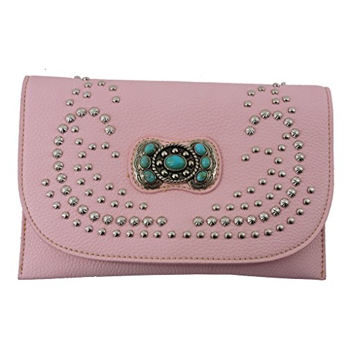 american-bling-sacs-bandouliere-femme-rose-pink-concho-taille-unique