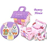 Personalized Fabric Bunny House Play Set For Children