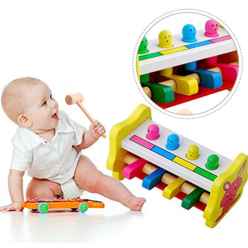 New Arrival Knock Tables Pounding Bench, Striking Preschool Children Piling Beat Hammer Percussion Wooden Educational Toys For 1-12 Years Kids (Eco Blocks For Wood Stove compare prices)