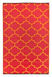 Tangier - Orange Peel & Rouge Red (5\' x 8\')