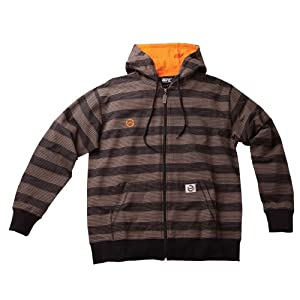 UFC Men's Convict Zip Hoodie (Brown, Small)