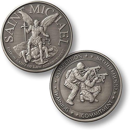 Northwest Territorial Mint Saint Michael - SWAT 2 Nickel Antique Challenge Coin - 1