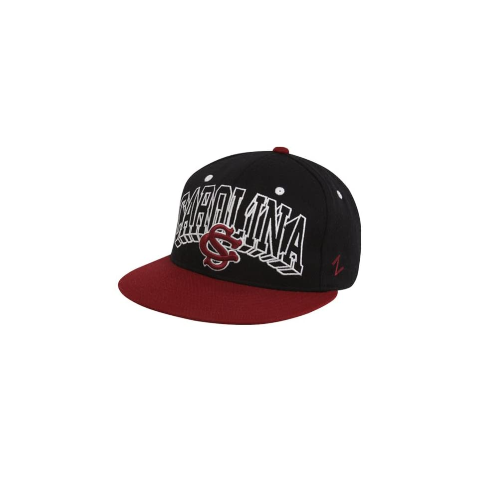 Zephyr South Carolina Gamecocks Black Garnet Blockbuster Snapback Adjustable Hat
