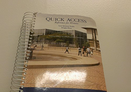 Quick Access Reference for Writers (Second Custom Edition for Old Dominion University)