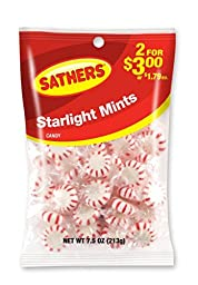 Sathers Starlight Mints, 7.5 Ounce Bag, Pack of 12