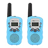 BELLSOUTH T-388 Twin Mini Walkie Talkie for Kids, Easy to use 3-5KM Range 22-Channel FRS/GMRS UHF Two-Way Radios(Blue)