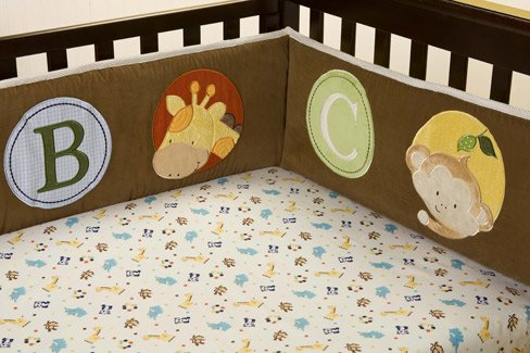 Kids Line Fitted Crib Sheet: Peek-A-Boo Pals front-1049821