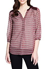 M&S Collection Boho Geometric Print Blouse [T43-3331-S]