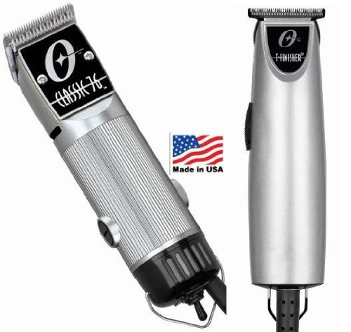 Combo Limited Edition Oster 76 and T Finisher Silver Clipper and Trimmer. (Black Oster Detachable Blades compare prices)