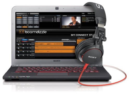 Sony VAIO E Series SVE14A1HFXBC 14-Inch Laptop Boomdizzle Bundle with DJ Headphones (Black with Burgundy Red)