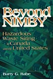 img - for Beyond Nimby: Hazardous Waste Siting in Canada and the United States by Barry George Rabe (1994-10-01) book / textbook / text book