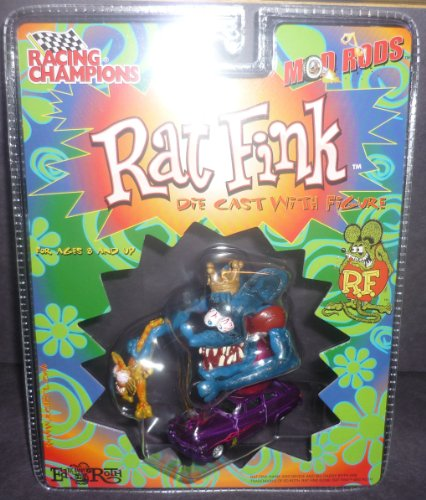 Racing Champions Blue Rat Fink Character Mod Rods Diecast With Figure front-871913