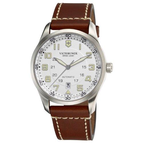 Victorinox Professional 241505 - Reloj analógico automático para hombre, correa de cuero color marrón
