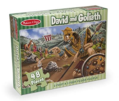 Melissa & Doug David and Goliath Jumbo Jigsaw Floor Puzzle (48 pcs, 2 x 3 feet)