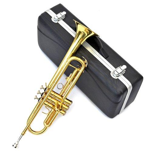Bb Trompete in Goldlack mit Trigger, Hartschalen-Koffer und C7 Mundstück