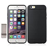 iPhone 6 Case, with Money Clip Slim Fit Premium Flexible TPU Case For Apple iPhone 6 (4.7-inch) (iPhone 6(4.7-inch), Black)