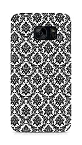AMEZ designer printed 3d premium high quality back case cover for Samsung Galaxy S7 (black white victorian)