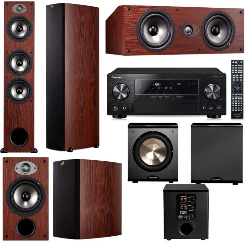 Polk Audio Tsx440T 5.1 Home Theater System (Cherry)-Pioneer Vsx-1123-K 7.2