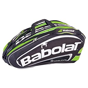 Buy 2014 Team Wimbledon 12 Pack Tennis Bag Black and Green by Babolat