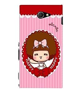 EPICCASE Happy girl Mobile Back Case Cover For Sony Xperia M2 (Designer Case)