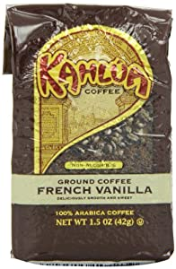 Kahlua Gourmet Ground Coffee, French Vanilla, 1.5 Ounce (Pack of 48)