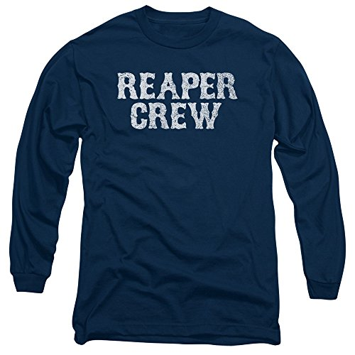 Sons Of Anarchy Reaper Crew Mens Long Sleeve Shirt Navy LG