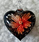Murano Style Heart with Flowers Pendant + FREE RIBBON NECKLACE+GIFT BOX