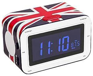 bigben rr30 radio alarm clock union jack electronics. Black Bedroom Furniture Sets. Home Design Ideas