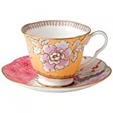 Wedgwood Butterfly Bloom Floral Bouquet Tea Cup and Saucer