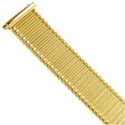 Watch Band Expansion Metal Stretch Gold Plated Thin line fits 16mm to 20mm