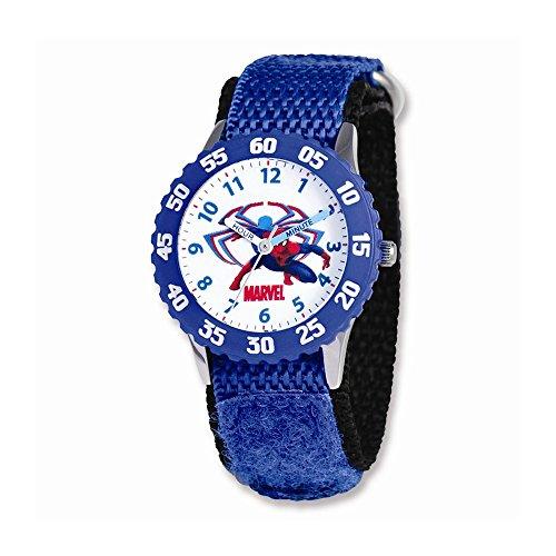 Marvel Spiderman Blue Velcro Band Time Teacher Watch