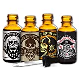 Grave Before Shave™ Beard Oil 4 Pack (Color: Clear to Tan)