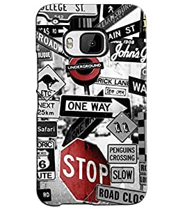 EU4IA STREET SIGNS MATTE FINISH 3D MATTE FINISH Back Cover Case For HTC ONE M...