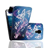 MobileExtraLtd® For Samsung Galaxy S4 i9500 Ultra Butterfly Style 7 Printed Pouch Pu Leather Magnetic Flip Case Cover + Guard
