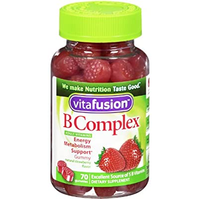 Vitafusion B Complex Gummy Vitamins for Adults, Mega Size Package 70 gummies, (Pack of 6)