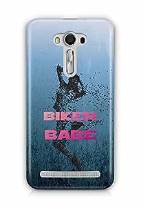 YuBingo Biker Babe Designer Mobile Case Back Cover for Asus Zenfone 2 Laser 550