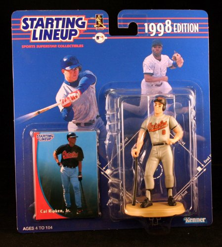 CAL RIPKEN JR. / BALTIMORE ORIOLES 1998 MLB Starting Lineup Action Figure & Exclusive Collector Trading Card