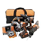 Factory Reconditioned Ridgid ZRR9651 5-Piece 18V X4 Cordless Combo Kit