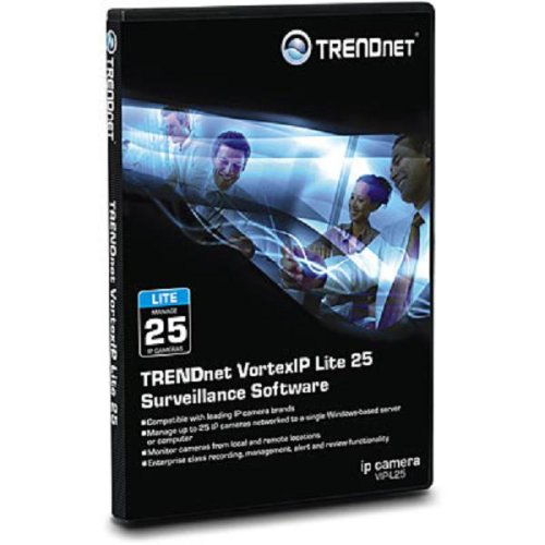 TRENDnet VortexIP Lite 25 Surveillance Software - Complete package - 25 cameras - Win - with USB key