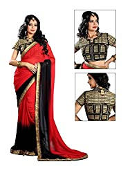 Bikaw Embroidered Red Georgette Party Wear Saree - BT-1197-A5