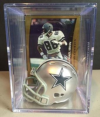 Dallas Cowboys NFL Helmet Shadowbox w/ Michael Irvin card