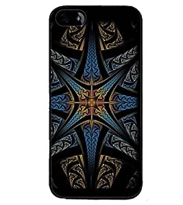 Printvisa Dark Multicolour Pattern Back Case Cover for Apple iPhone 4