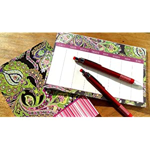 Ana Grace 4-piece Planner Set in Purple with Paisley