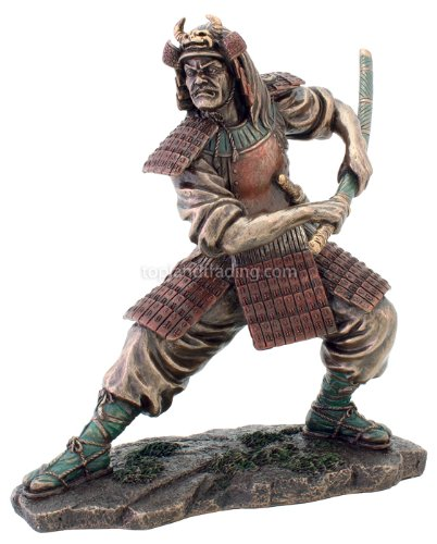 Amazon.com - Samurai Warrior Statue in Combat Figurine Martial Arts 3211 - Cold Cast Samurai Figurine