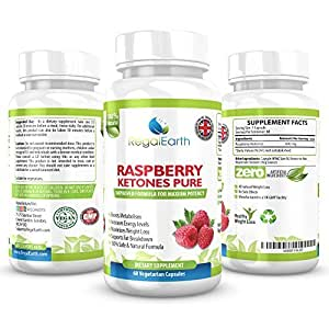 Raspberry Ketones Weight Loss Burn Fat Capsules 600mg Max Strength Pure Diet Pills For Men & Women - Promotes Healthy Digestive System - Natural Appetite Suppressant - Prevents Weight Gain - Fat Burner - Excellent Results When Combined With a Fitness Program or Cleanse Plus pills - Money Back Guarantee - 60 Vegetarian Capsules - MADE in The UK